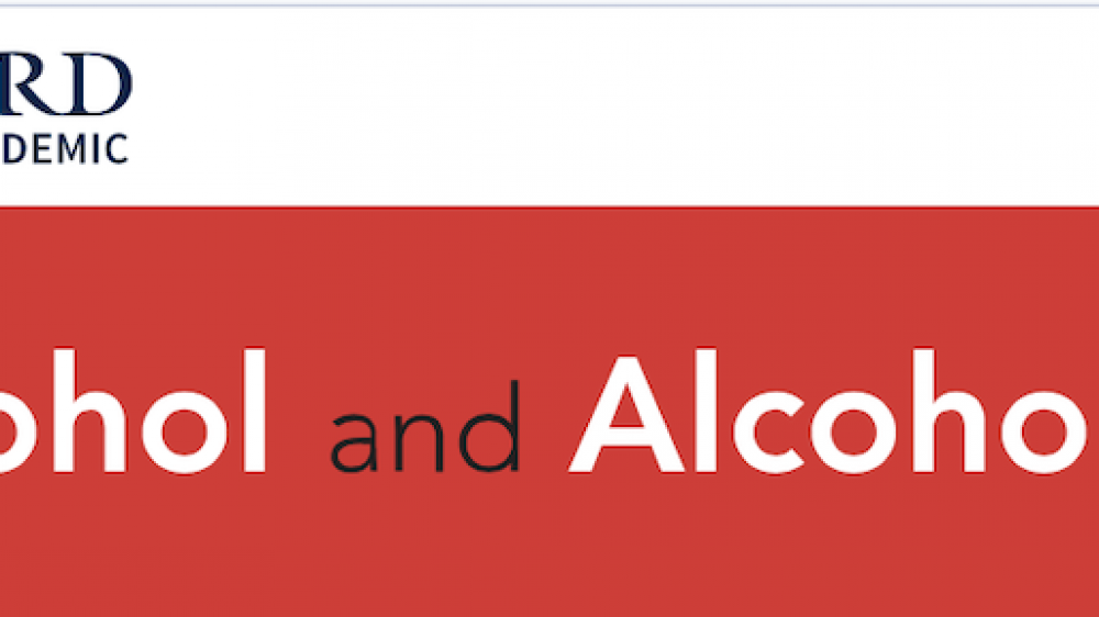 Oxford University Press Alcohol and Alcoholism, Volume 54, Issue 1, January 2019