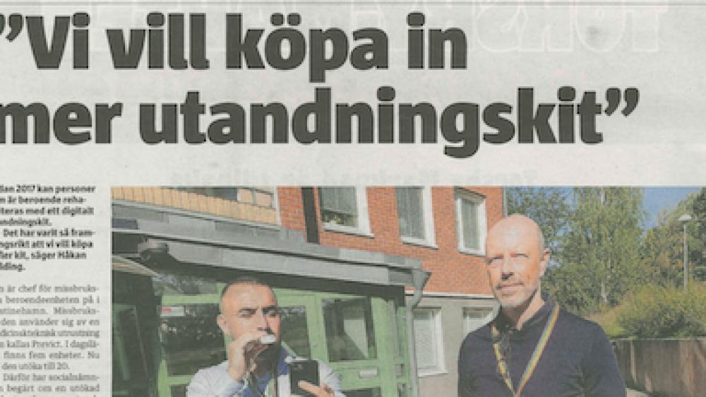 Värmlands Folkblad skriver om Previct och behandlingsvård i Kristinehamn